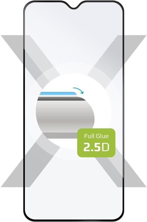 FIXED ochranné tvrzené sklo Full-Cover pro Xiaomi Redmi 8/8A, lepení přes celý displej, černé