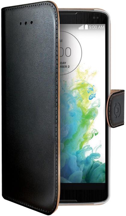 CELLY Wally pouzdro pro LG G4, PU kůže, černá