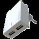 SWISSTEN síťový adaptér SMART IC, CE 2x USB 3 A Power + datový kabel USB/Type C 1,2m, bílá