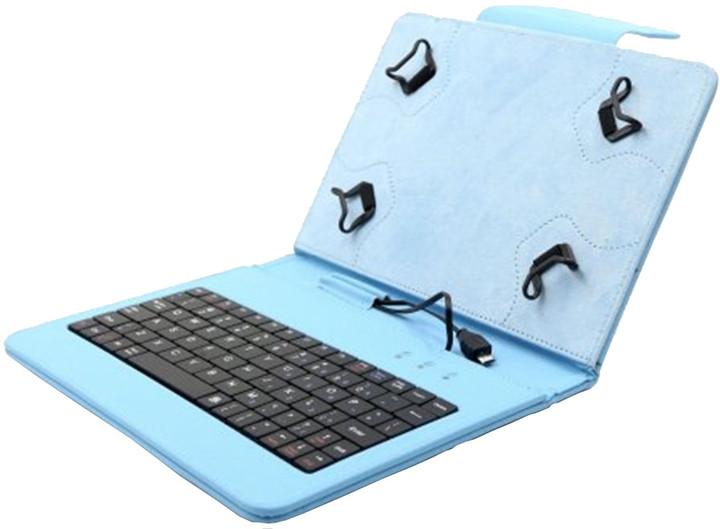 """C-TECH PROTECT NUTKC-01, pouzdro s klávesnicí pro 7-7.85"""", modrá"""