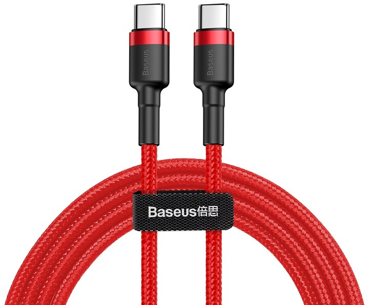 Baseus odolný kabel Series Type-C PD2.0 60W Flash Charge kabel (20V 3A) 1M, červená