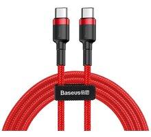 Baseus odolný kabel Series Type-C PD2.0 60W Flash Charge kabel (20V 3A) 1M, červená - CATKLF-G09