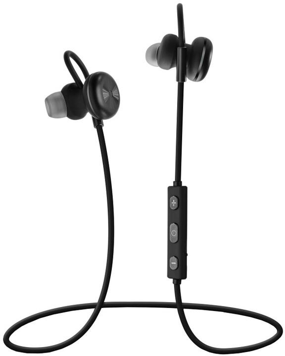 FIXED Steel stereo Bluetooth sluchátka, černá