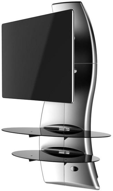 Meliconi 488089 GHOST DESIGN 2000 ROTATION Sestava pro TV a komponenty k instalaci na zeď, stříbrná