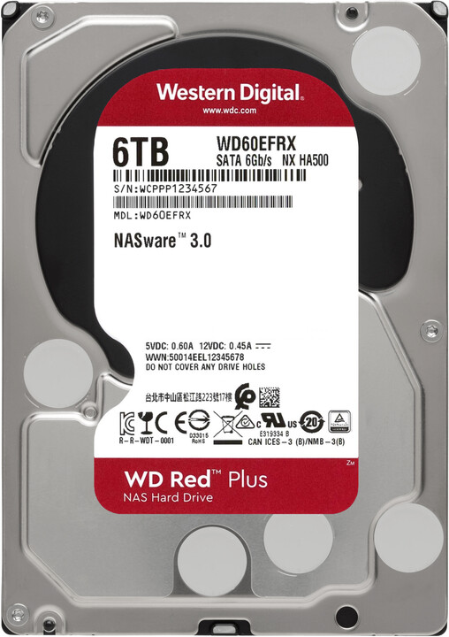 "WD Red Plus (EFRX), 3,5"" - 6TB"