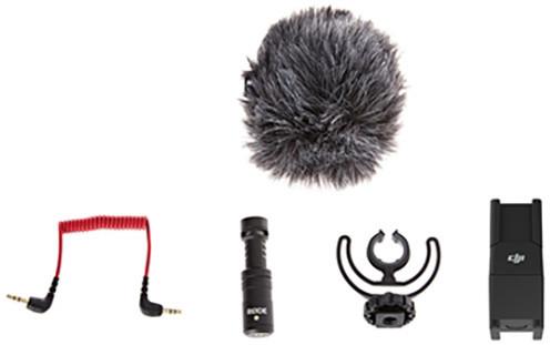 DJI OSMO - mikrofon RODE VideoMicro s držákem a propojovacím kabelem