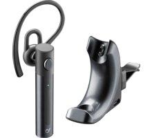 Cellularline Magnet Bluetooth headset s nabíjecí základnou, černá - BTCARMAGK