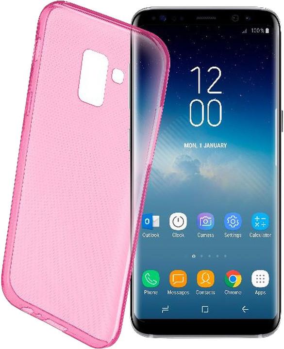 CellularLine barevné gelové pouzdro COLOR pro Samsung Galaxy S9, růžové