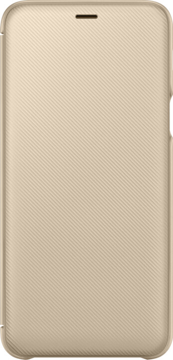 Samsung A6+ flipové pouzdro, zlatá