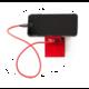 USBEPower ROCK Pocket charger 2Ports stand, červená