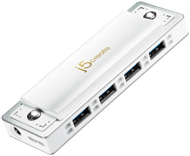 J5CREATE USB3.0 Harmonica Hub JUH345WE (White edition)
