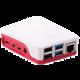 Raspberry Pi case Original - pro Pi4B, bilá/růžová