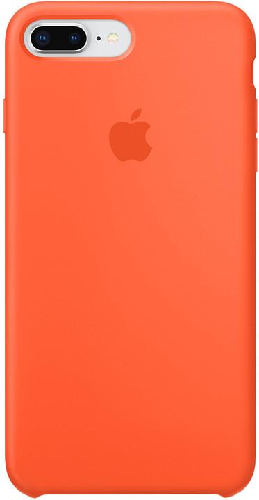 Apple silikonový kryt na iPhone 8 Plus / 7 Plus, oranžová