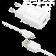 FIXED síťová nabíječka s odnímatelným micro USB kabelem, 2,4A, bílá