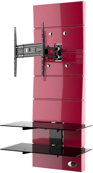 Meliconi 488312 GHOST DESIGN ROTATION Sestava pro TV a komponenty k instalaci na zeď, červená