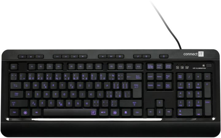 CONNECT IT CI-162 LED podsvícená klávesnice