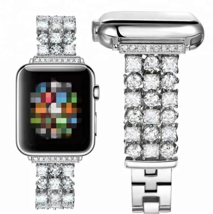MAX náhradní řemínek MAS22 pro Apple Watch, 42/44mm, stříbrná
