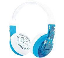 Buddyphones Wave - Robot, modrá - BT-BP-WV-ROBOT