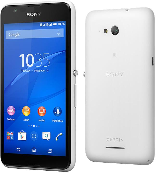 Sony Xperia E4g, bílá