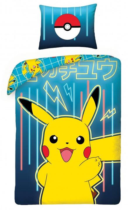 Povlečení Pokémon - Pikachu, modré
