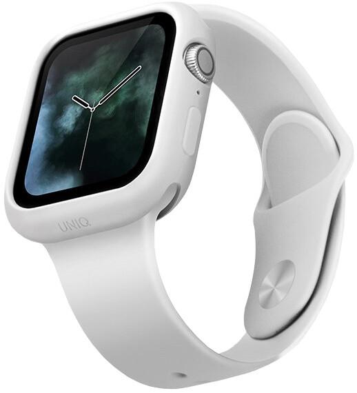 UNIQ ochranný kryt Lino pro Apple Watch 40mm, bílá
