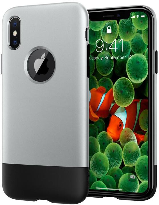 Spigen Classic One pro iPhone X, šedá