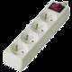 Prodlužovací kabel 230V 3m (4x zásuvka, vypínač)