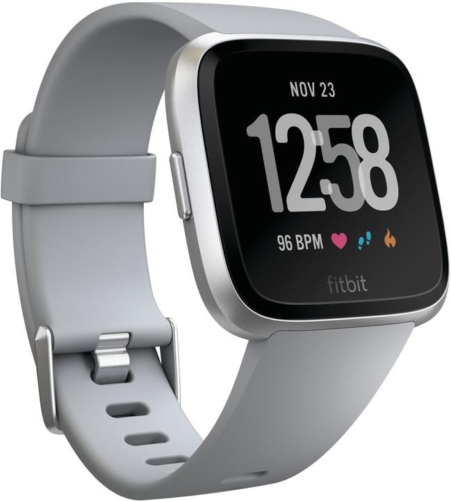 Fitbit Versa (NFC) - Gray / Silver Aluminum