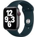 Apple řemínek pro Watch Series, sportovní, 44mm, tmavě zelená