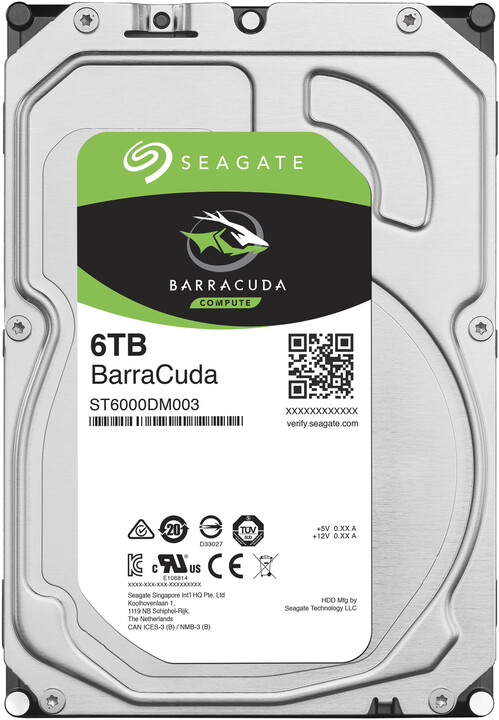 "Seagate BarraCuda, 3,5"" - 6TB"