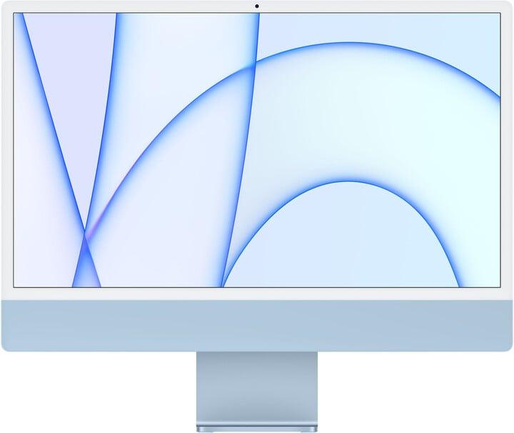 "Apple iMac 24"" 4,5K Retina M1 /8GB/256GB/7-core GPU, modrá"