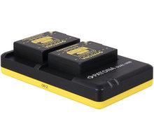 Patona nabíječka Foto Dual Panasonic DMW-BLC12 + 2x baterie 1000mAh USB - PT1949B