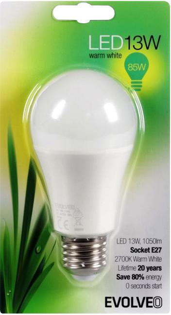 Evolveo EcoLight - 13W, svítivost 1050lm, E27