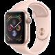 Apple Watch series 4, 44mm, pouzdro ze zlatého hliníku/růžový řemínek