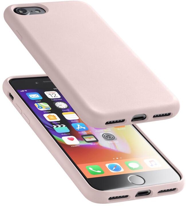 CellularLine ochranný silikonový kryt SENSATION pro iPhone 8/7, starorůžový