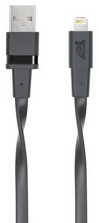RivaCase Riva 6001 BK1 MFI Apple Lightning kabel 1,2m, černá