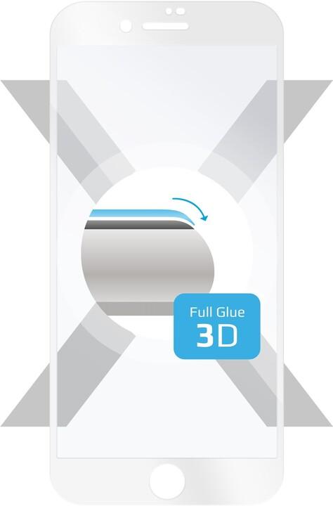 FIXED 3D Full-Cover ochranné tvrzené sklo pro Apple iPhone 7/8/SE 2020, bílé