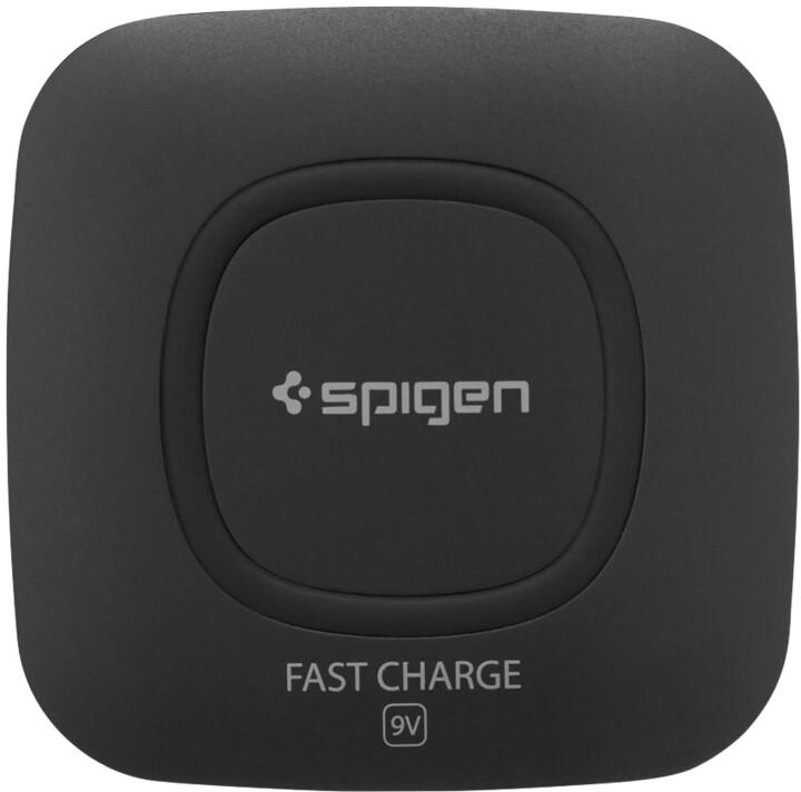 Spigen Essential F301W Wireless Charger, černá