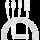 BASEUS kabel Superior 3v1, USB-A - USB-C/micro USB/Lightning, nabíjecí, 1.5m, bílá