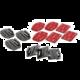 Rollei Adhesive Pads Sada rovných a zakřivených podložek pro kamery GoPro a Rollei 300/400/500 série
