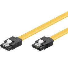 PremiumCord 0,3m SATA 3.0 datový kabel 1.5GBs / 3GBs / 6GBs, kov.západka