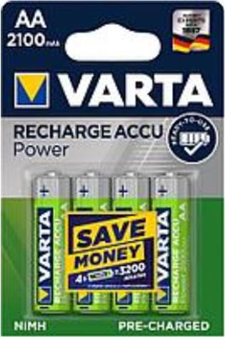 VARTA nabíjecí baterie Power AA 2100 mAh, 3+1ks