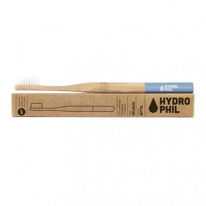 Zubní kartáček Hydrophil, bambusový, modrý (medium)