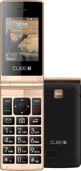 Cube 1 VF200, černo/zlatá