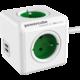 PowerCube EXTENDED USB prodlužovací přívod 1,5m - 4 zásuvka, zelená  + Voucher až na 3 měsíce HBO GO jako dárek (max 1 ks na objednávku)