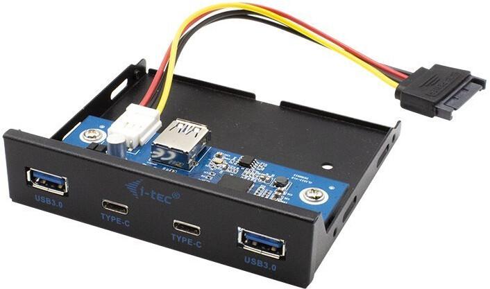 """i-tec přední panel do 3.5"""" pozice PC / USB-C / USB 3.0"""