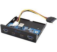 """i-tec přední panel do 3.5"""" pozice PC / USB-C / USB 3.0 - U3CEXTEND22"""