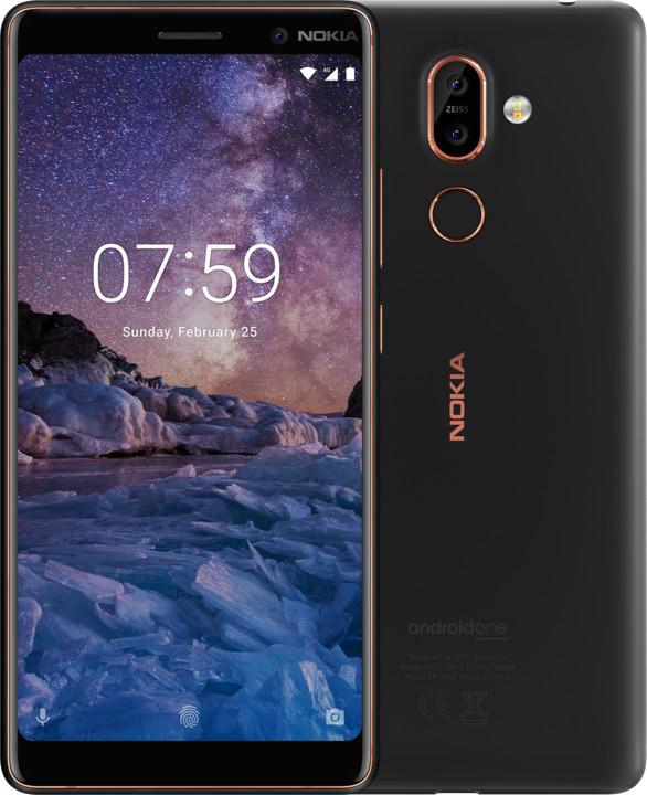 Nokia 7 Plus, Dual SIM, černá