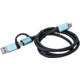i-tec propojovací kabel USB-C/USB-C s integrovaným adaptérem USB 3.0