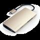 Satechi dockovací stanice USB-C, HDMI 4K, 3x USB 3.0, Micro SD, Ethernet V2, zlatá